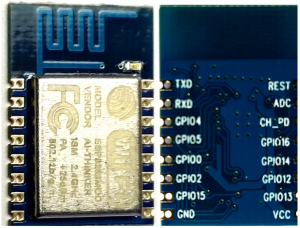 ESP8266-12 Top and Bottom Views