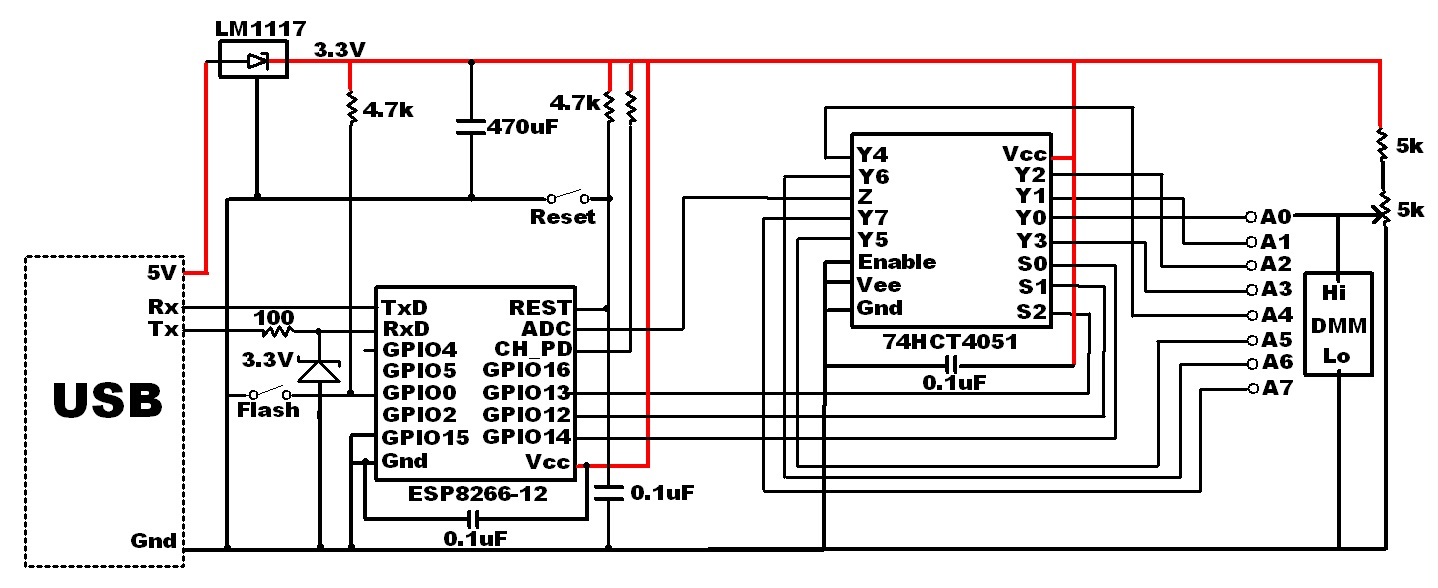 Internet Of Home Things 8 Esp8266 Analog Inputs For 22 Cents Bit Adc Circuit Diagram Schematic Amux Test Updated