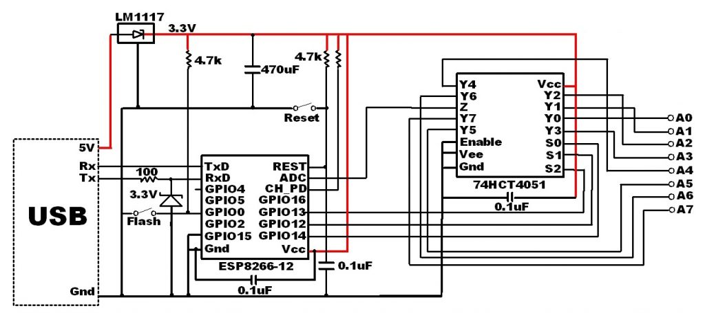 Use PCF8574A I2C GPIO to add more digital pins to Arduino
