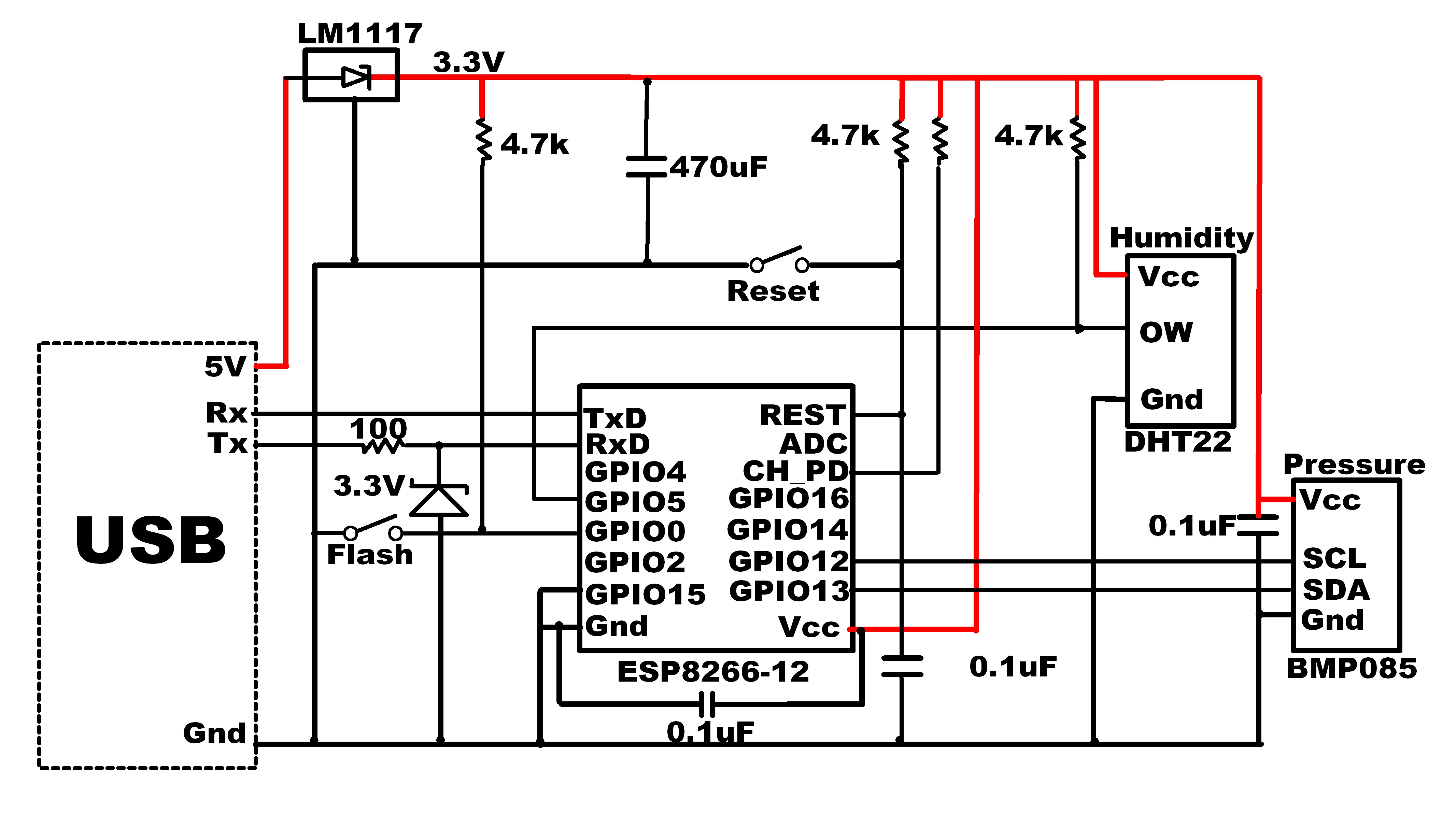 Humidity Sensor Circuit Schematic Diagram Wiring 12e Esp8266 Get Free Image About Switch Tail Light